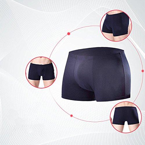 Uomo Biancheria Intima Pantaloni Seta Del Ghiaccio Traspirante Pantaloncini Giovane Sexy (4 Confezioni) 5