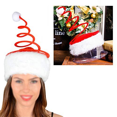 rty Hut Santa Hut Frühjahr Hut mit Plüschdekoration Weihnachtskleid 1PC Weihnachtsdekoration ()