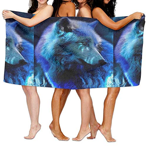 VTXWL Crystal Diamond Wolf Unisex Fashion Towel Personalized Print Beach Towels -