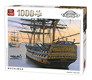 King History Collection Becalmed 1000 pcs Puzzle - Rompecabezas (Puzzle Rompecabezas, Historia, Adultos, Hombre/Mujer, 8 año(s), Cartón)