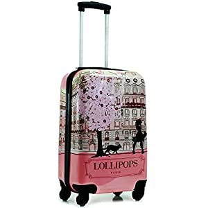 lollipops valise cabine paris 50cm rose bagages. Black Bedroom Furniture Sets. Home Design Ideas