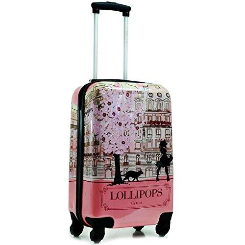Lollipops-Valigia Cabina Paris 50cm-Rosa