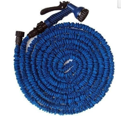 Jardin extensible Bleu 100 m de tuyau Flexible Double couche de Latex