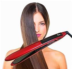 Star&Smile Hair Straightener, Professional Electric Hair Straightening Brush for Faster Straightening Styling Massage, Anion Hair Care, Anti Scald, Zero Damage (Pink)