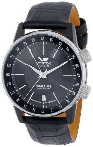 Vostok-Europe hombre 2426/5602059Gaz-14Limo automático negro Dial reloj