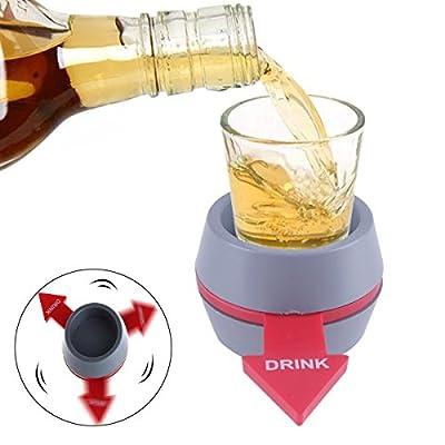 Spin the Shot, Tourner le coup, avec rouge Flèche, Coup Fileur, Jeux à boire, Bingo Jouet, Amusement pour Hommes Femmes Adultes pour Bar Des soirées Vacances
