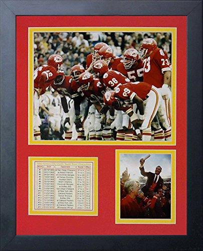 Legenden Sterben Nie 1969Kansas City Chiefs Huddle gerahmtes Foto Collage, 11von 35,6cm