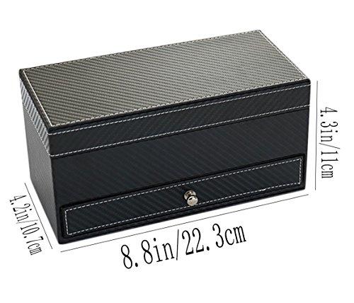 iSuperb-Reloj-joyas-caja-joyero-de-piel-organizador-de-accesorios-caja-de-almacenamiento-pantalla-bandeja-para-4-reloj-cajn-223-x-11-x-107-cm