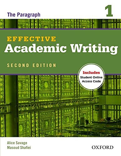 Portada del libro Effective Academic Writing Second Edition: 1: Student Book by Alice Savage (2012-07-12)