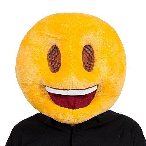Lächelnd Emoji Gesichtsmaske für Lustige Neuheit Phone Maskenball Verkleidung