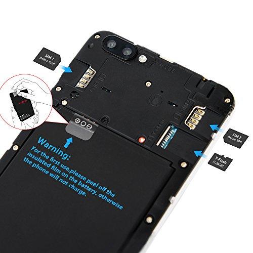 Smartphone Libres Baratos 4G  Wieppo S6 Tel  fono m  vil Dual SIM con Pantalla de 5 5 Pulgadas HD 1280 720  Doble C  mara 8MP 5MP  2GB RAM 16GB ROM  A