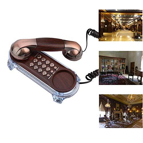 Vbestlife Teléfono Fijo Retro Elegante Antiguo Teléfono