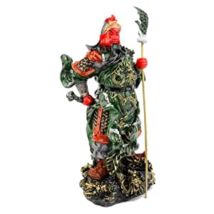 STATUETTTE DIEU KUAN KUNG - H 25cm - Feng Shui Protection et Richesse