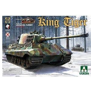 TAKOM 2073-Maqueta de WWII German Heavy Tank SD.Coche.182King Tiger Henschel Turret con Interior