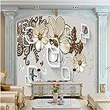 Décoration Chambre à Coucher Décor Fonds d'écran européens créatifs en 3D pour le fond de la maison décoration photo murs peintures murales fleurs modernes papiers peints-250 X 200CM