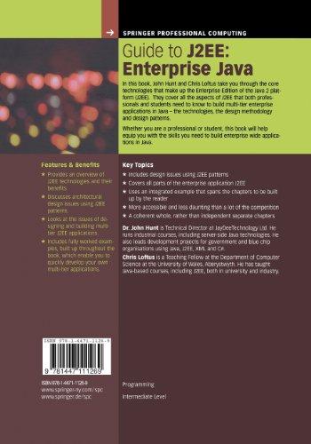 Guide to J2EE: Enterprise Java (Springer Professional Computing)
