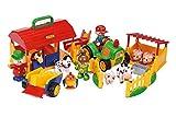 TOLO First Friends Bio Bauernhof - 22tlg. Set mit Traktor, 7 Tieren + Zusatzelementen / für Kinder von 1 - 5 Jahren geeignet
