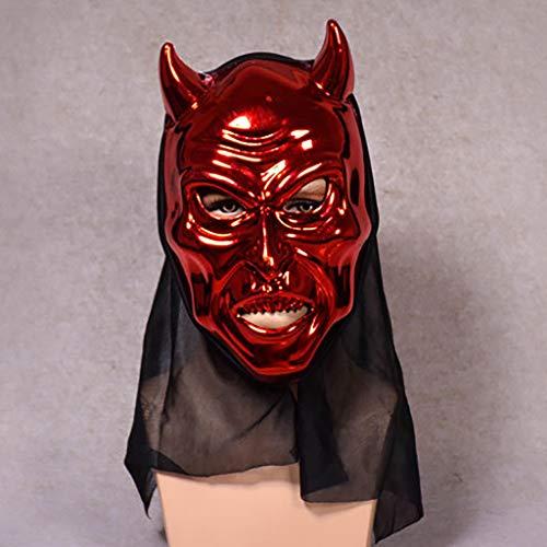 TianranRT Karnevalsmaske,Halloween Cattle Magic Horror Maske Cosplay Bar Performance Party Unter Dem Motto Interessante Kreativität,Rot (Magic Motto Party Kostüm)