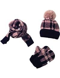Bonnet Echarpe Gants Tricotés Ensemble 3 pièces bonnet écharpe et gants  enfants Ensemble bonnet tricoté + 56b1430fe83
