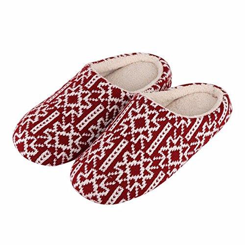 HOMEE Femmes S Slippers Home Slip Chaussures en coton Semelles souples Pantoufles en coton chaud Automne et Hiver 29 (42-43)