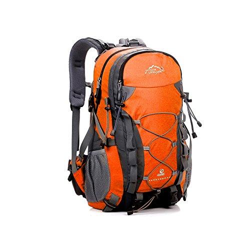 Tofern Multiuso 40 Litri Zaino Trekking Donna Uomo Impermeabile Campeggio Alpinismo Arrampicata Ciclismo Escursionismo Sci Pesca Alta Capacità Borsa da Viaggio Zainetto, Giallo arancione