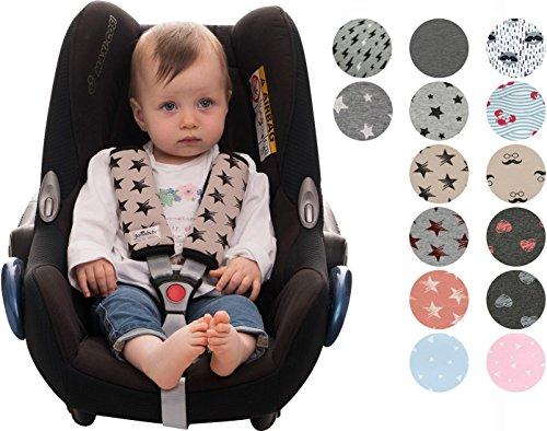 Gurtpolster Gurtpolster Set - universal für Babyschale, Buggy, Kinderwagen, Autositz (z.B. Maxi Cosi City SPS, Cabrio, Cybex Aton usw.) Janabebe®