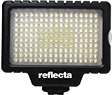Reflecta RPL 170 Illuminatore Video LED, 170 LED, 1200 Lux, Temperatura Colore 5800°K-3200°K, Luminosità Variabile, Nero immagine
