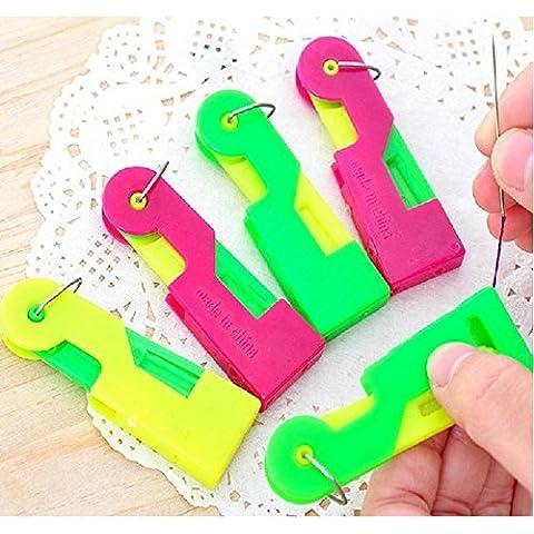 ETGtek(TM) Guía de rosca 10pcs automática espontánea No se ve afectado enhebrador de aguja Dispositivo de ancianos fácil de utilizar