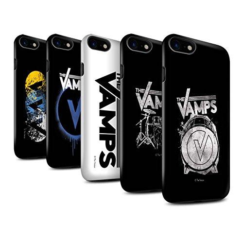 Offiziell The Vamps Hülle / Glanz Harten Stoßfest Case für Apple iPhone 8 / Schlagzeug Muster / The Vamps Graffiti Band Logo Kollektion Pack 6pcs