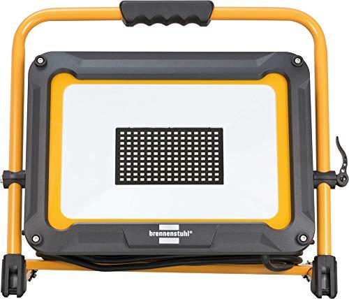 Brennenstuhl Mobiler LED Strahler JARO 9000 M/LED Baustrahler für außen (IP65, mit 5m Kabel, 100W, mit Schnellspannverschluss)