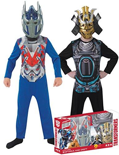 Hasbro i-881280m–Kostüm für Kinder–Bi Pack–Transformers 4, Optimus Prime + Drift–Größe M