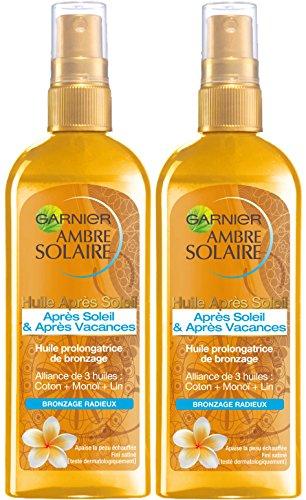 Garnier - Ambre Solaire - Huile prolongatrice de bronzage Après Soleil - 150 ml - Lot de 2