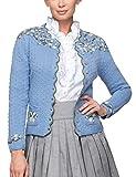 Stockerpoint Damen Trachtenstrickjacke Jacke Hilda, Blau Hellblau, 40