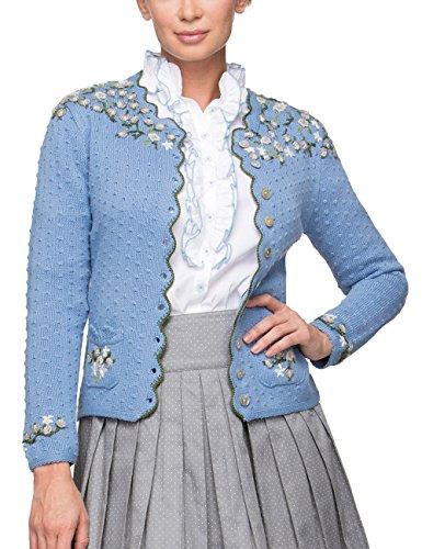 Stockerpoint Damen Trachtenstrickjacke Jacke Hilda Blau Hellblau, 36