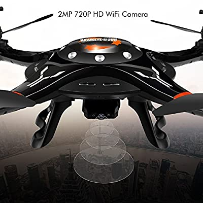 DBPOWER WIFI FPV Drone with 720P HD Camera Altitude Hode Mode Gravity Control RTF Quadcopter