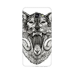 Mobicture Screaming Wolf Premium Printed High Quality Polycarbonate Hard Back Case Cover for Samsung A7 2016 With Edge to Edge Printing