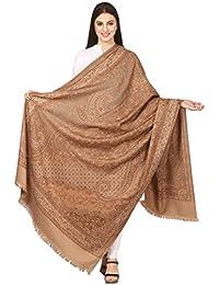 8fd42ad106 Pashtush Women's Kashmiri Shawl, Jacquard palla, Warm ande soft, Faux  Pashmina Design (