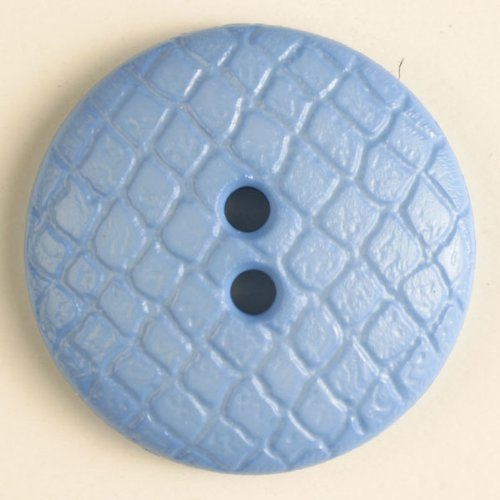 4 Stück: Polyamidknopf - Größe: 18mm - Farbe: blau