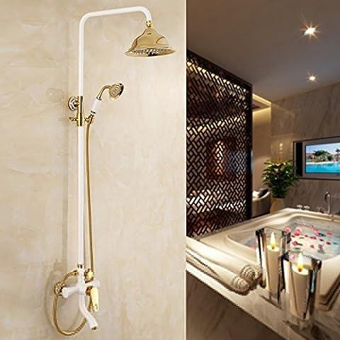 General de Antigüedades de cobre dorado de lujo el grifo de la ducha ducha