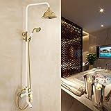 AiMi- Voll von hochwertigem Kupfer und Gold -Anzug Regenduscheantike weiße Dusche Fabrik speziell für große günstig