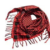 YEBIRAL Unisex Damen Männer Schal Mode Kariert übergroßer Tücher Tuch Schal Halstuch(Rot)