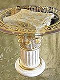 Medusa Esstisch Tische mit Styl Glastisch Medusa Wohntisch Mäander Barock Säulen Wohntische mit Styl 6030 W-1021 K122 100x100cm Glasplatte Rund Versac TOP ANGEBOT ( SO LANGE DER VORRAT REICHT )