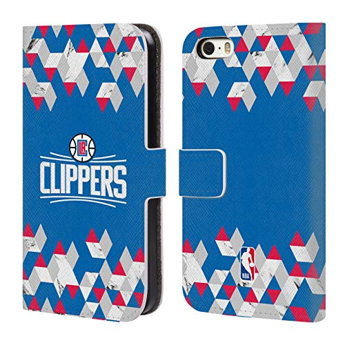 Head Case Designs Offizielle NBA Marmor Geometrisch 2018/19 Los Angeles Clippers Leder Brieftaschen Huelle kompatibel mit iPhone 5 iPhone 5s iPhone SE (Clippers Angeles 5s Iphone Los)