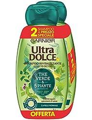 Garnier Ultra Dolce Shampoo 5 Piante per Capelli Normali, Senza Parabeni, Senza Siliconi, Estratti Naturali, 300 ml [Confezione da 2]