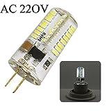 G4 64 SMD 3014 LED Leuchtmittel 5 Walt entspricht 50 W Glühlampe Ersatz der Leuchtmittel Halogen, AC 220 V / AC 12V, 300 Lumen, Abstrahlwinkel von 360 Grad, kaltweiß (6000 – 6500 K) (1 Stück, AC 220 Volt)
