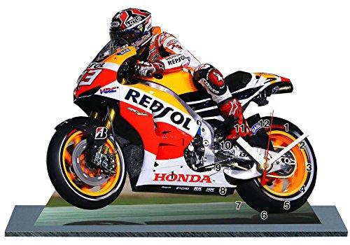 Preisvergleich Produktbild MARC MARQUEZ, MOTO GP, HONDA, MINIATUR MODELL MOTORRAD in der Uhr 02