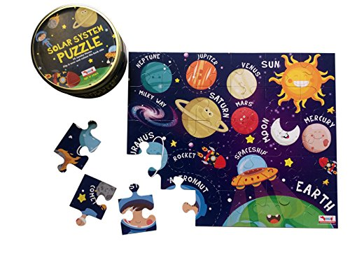 CocoMoco Kids Solar System Puzzle 30 pcs, Return Gift for 2-6 Year Old Boys and Girls, Multi Color