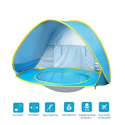 GFEU Tienda de Campaña Plegable con Protección UV para Piscina, Ideal para Playa, Vacaciones, Nacimiento, etc.