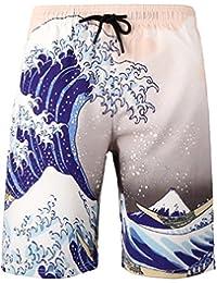 77f65544c35229 YuanDiann Uomo Taglia Grossa Grasso Costumi da Bagno Boardshorts da  Spiaggia Stampa Gamba Dritta Asciugatura Veloce Tasche…