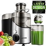 Entsafter, Aicook Zentrifugaler Entsafter, 65MM breiter Mund Edelstahl Entsafter, BPA-frei, mit rutschfesten Gummifüßen, Saftmaschine mit drei Geschwindigkeiten für Obst und Gemüse